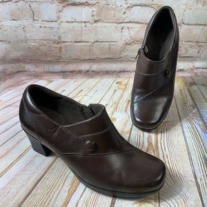 Clarks Bendables Leather Ankle Boots Booties Shoes